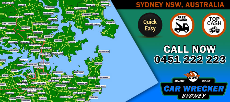 Sydney Car Wrecker Locations
