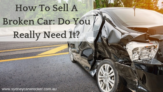 how to sell a broken down car